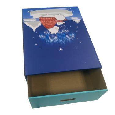 Custom corrugated packing box for Christmas gift