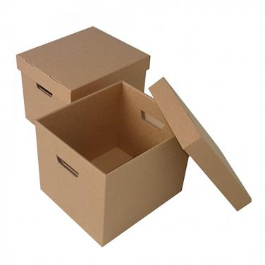 Recyclable paper material archive box