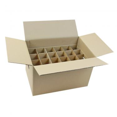 24 Bottles Cardboard Box With Dividers