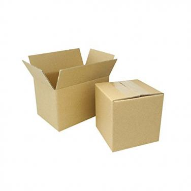 Plain brown corrugated paper storage box