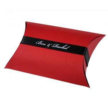 Custom Packaging Red Pillow Box