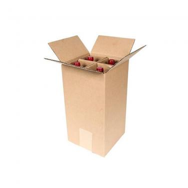 Corrugated Four Pack Wine Box