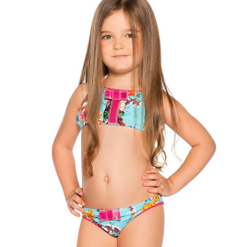 Litter Kids Elsa Girls Swimwear Bikini Kids Swimsuit For Girls Shoulder Bathing