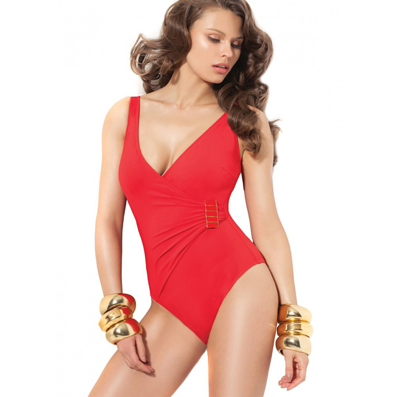 OEM Sexy Ladies V Front And X Back One Piece Thong Swimwear