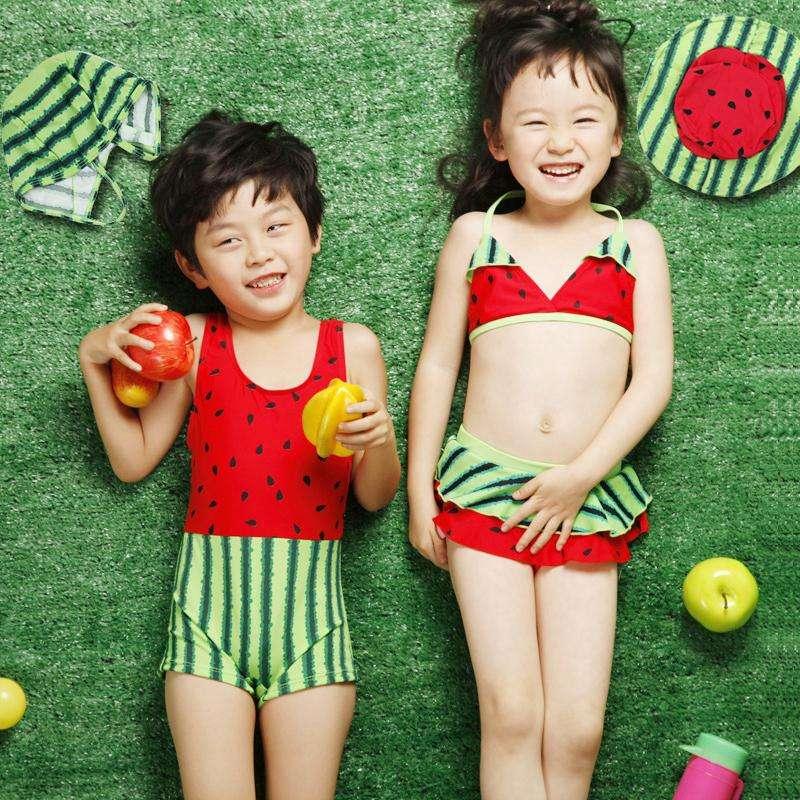 Kids & Children swimwear lovely melon printing OEM