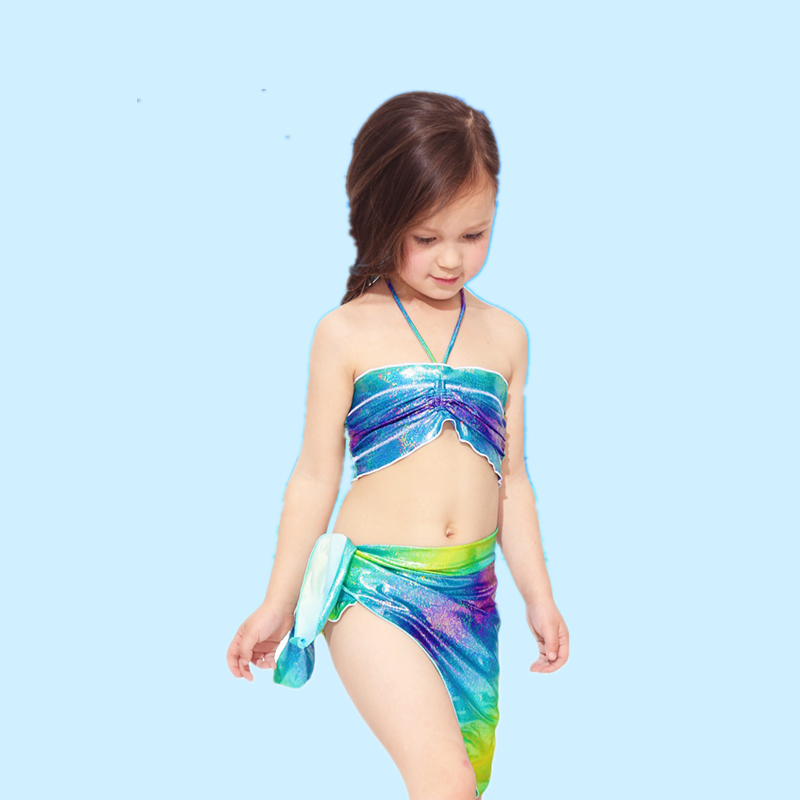 Kids shinning swimwear Girls OEM seperated swimwear