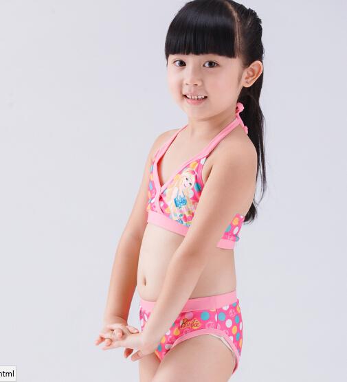 Girls' lovely bikini set OEM printing swimwear set