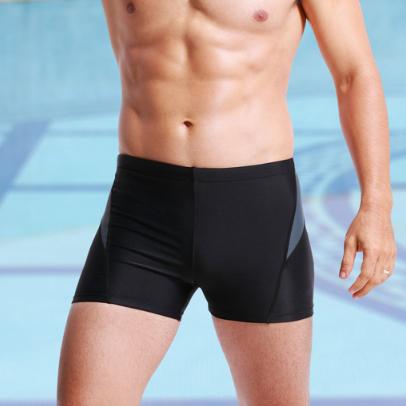 Men basic solid swimming trunk OEM men swimwear