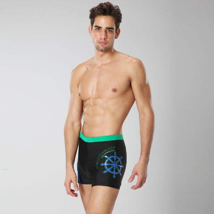 Men swimming trunks OEM swimming shorts with side printing