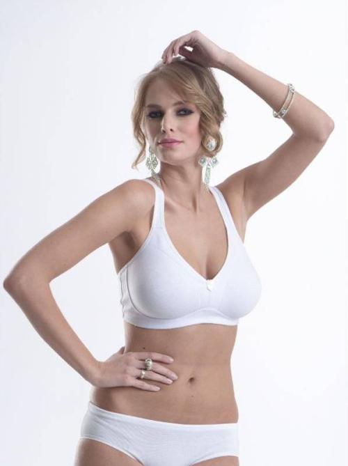 Ladies' yoga wear set V-neck white activewear