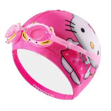 Kids swimming cap digital printing cap with goggles