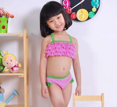 Girls bikini set kids lovely swimsuit OEM