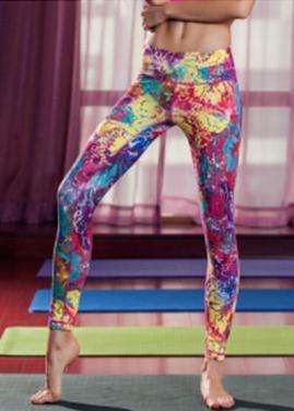Ladies' colorful leggings artist printing-multi color available OEM