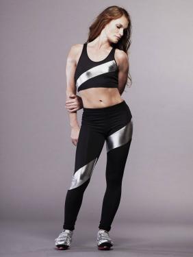 Ladies' sportswear/activewear set printing bra top and long leggings