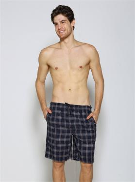 Men checks beachwear boardshorts with cord OEM printings