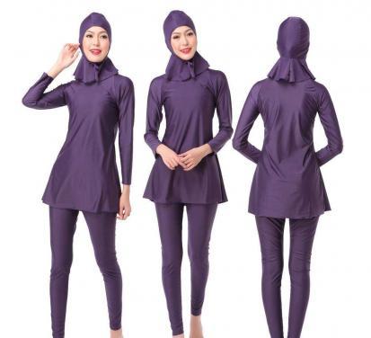 Muslim swimwear ladies swimsuit with headgear