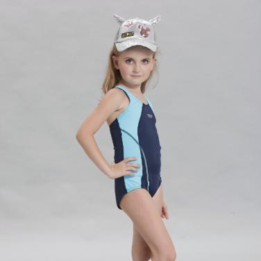 Kids one piece swimwear multi-color professional kids swimsuit OEM service-Navy