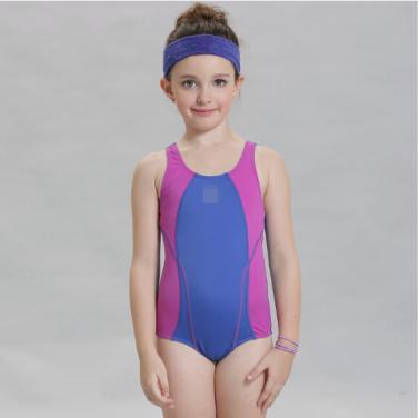 Kids one piece swimwear multi-color professional kids swimsuit OEM service-Purple