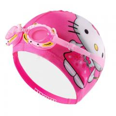 Kids swimming cap digital printing cap with goggles
