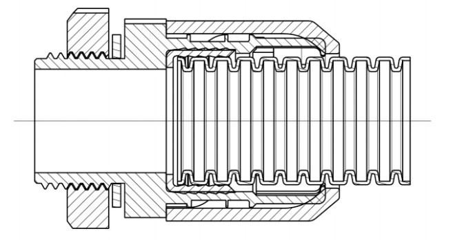 Patented Anti Vibration Easy Locking Corrugated Conduit Connector
