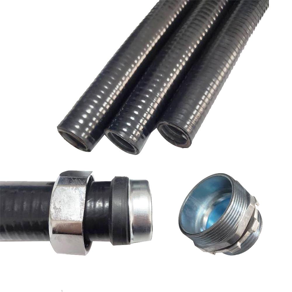 UL CUL Certified -55-105 Degree V0 Fireproof Smooth Finish PVC Coated GI Flexible Metal Conduit