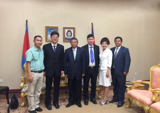 Cambodian Deputy PM Yim Chhaily Meets Jiangnan Group's CEO Chu Hui