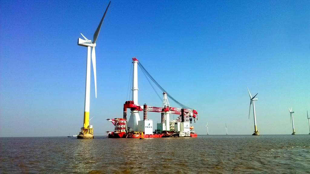 Offshore wind power rush to installation tide, GENMA products appear on CCTV
