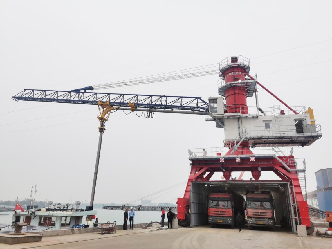 Solving dust pollution contributing to environment protection for Guigang——RHM successfully delivered a Genma grain ship unloader