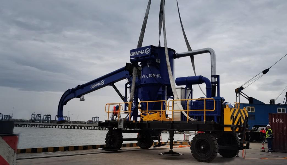 Another GENMA grain suction machine completed shipment