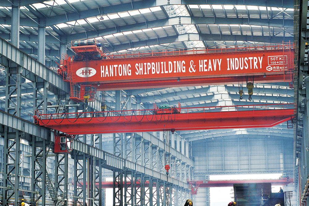 QEC Double Shipbuilding Overhead Crane