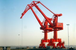 Double Jib Portal Crane