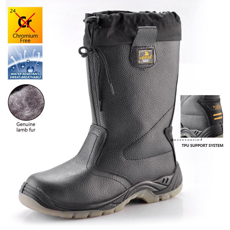 798a742d2 H-9426 Черн.Защитные сапоги зимние спецобуви PU/TPU