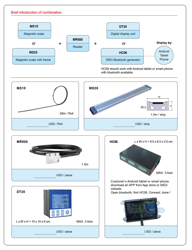 Quality Magnetic Scale Digital Readout System Manufacturer