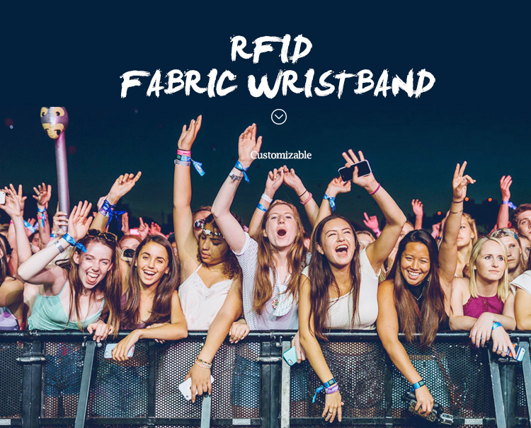 RFID Fabric Wristband for Musical