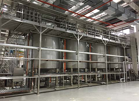 coconut milk processing line
