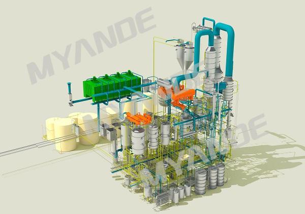 Edible oil refinery 3D Design