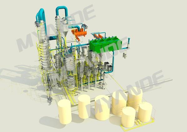 Edible oil refinery 3D
