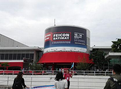 Горчи побывала на ыставке Feicon в Бразилии