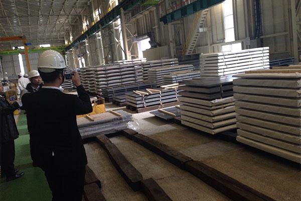 Serie de placas de acero