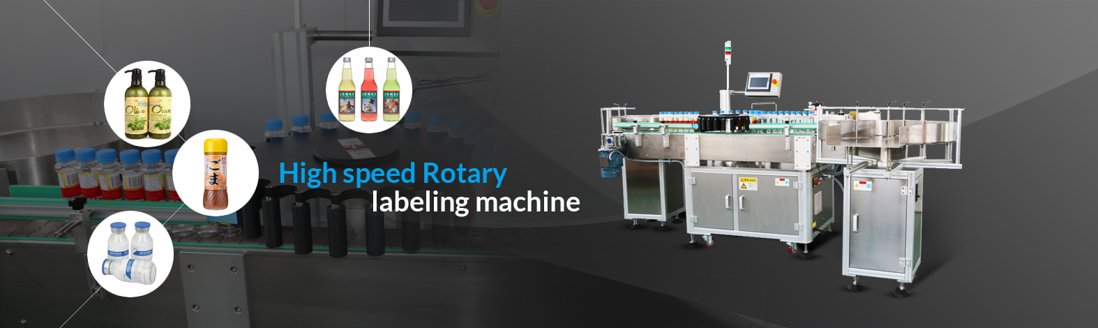High speed rotary labeling machine