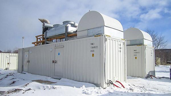 Contenedor del Generador de Energía-Rusia