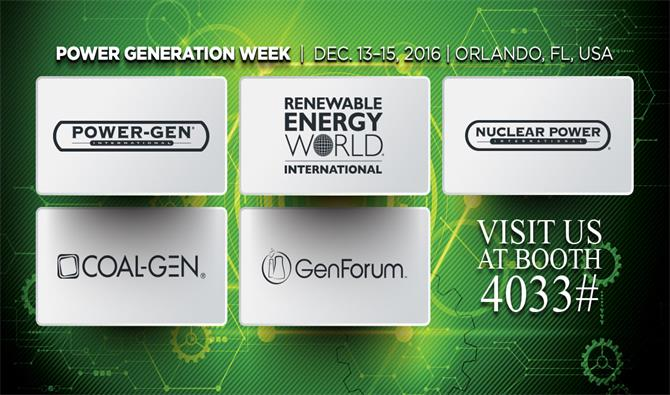 MPMC invites you to join the POWER-GEN International 2016