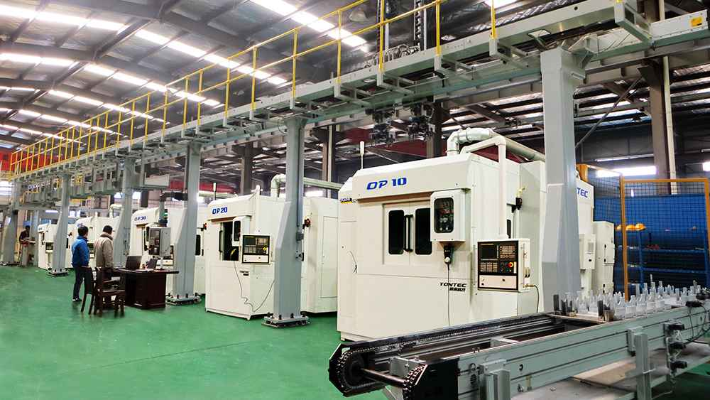 Cylinder block cylinder head flexible production line