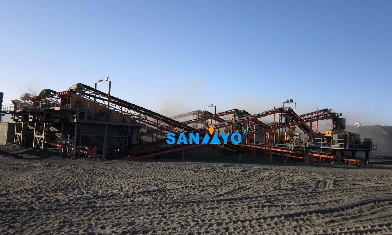 Planta de creación de arena de hierro en Mongolia