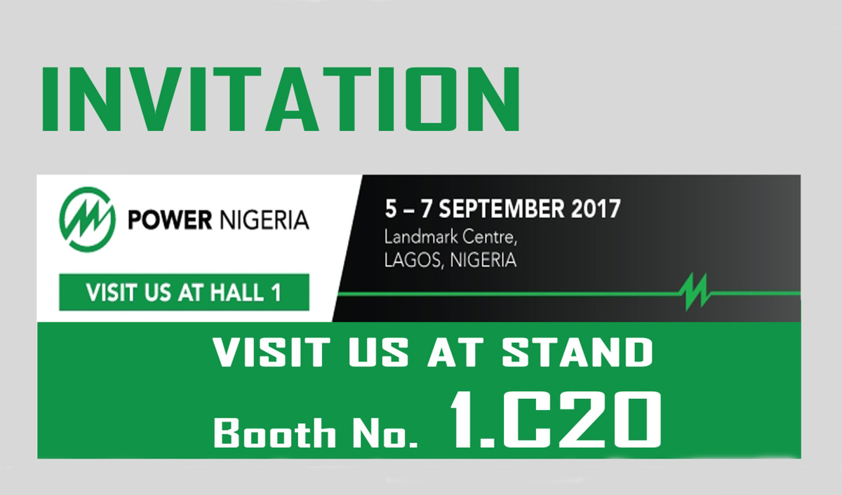 Join us at the Power Nigeria from 5-7 September, Booth No. 1.C20