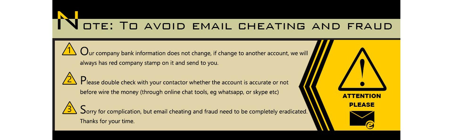 Avoid internet fraud