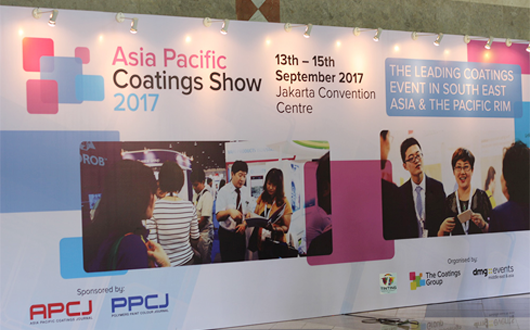 2017 Indonesia Asia Pacific coatings show perfect closing,Farfly return fully loaded