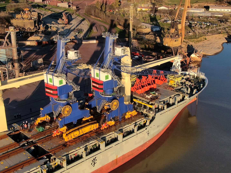 GENMA GHC34移动式港口起重机抵达圣尼古拉斯港口