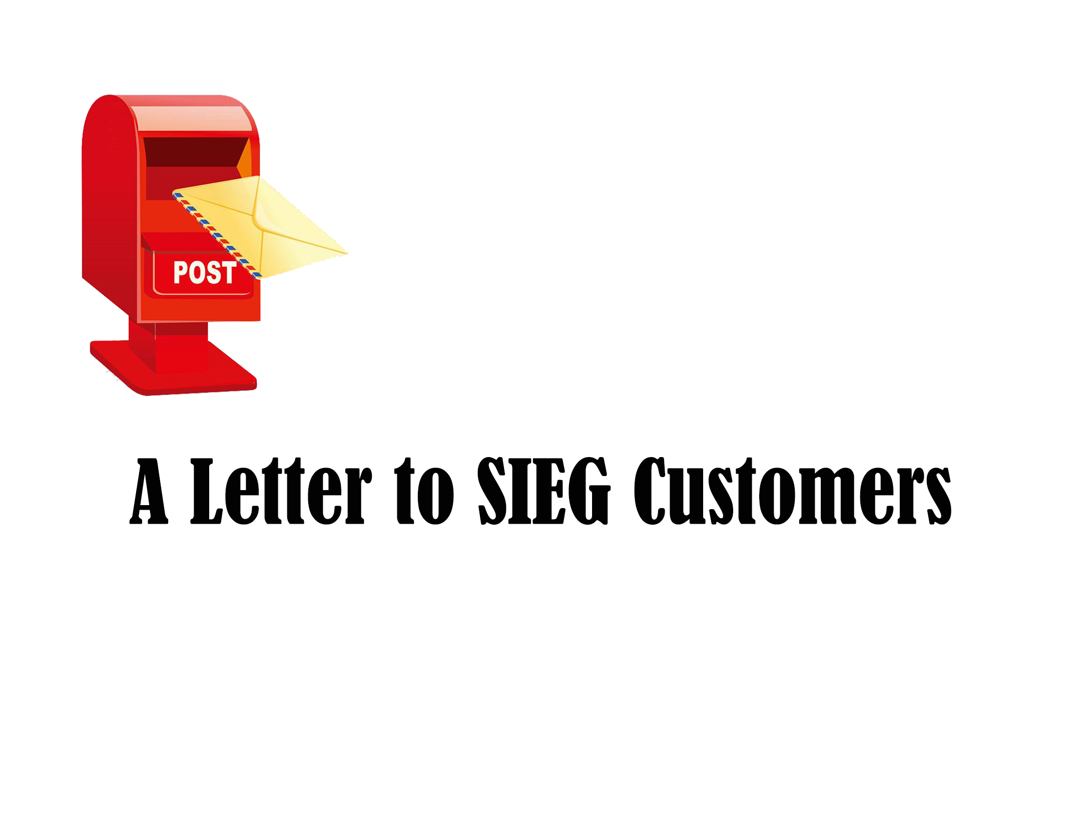 A Letter to SIEG Customers